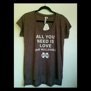 Mississippi State Tee Shirt-All you need is love.